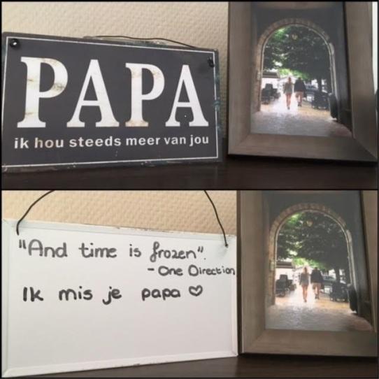 Papa ik hou steeds meer van jou